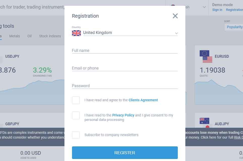 LiteForex Registration